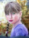 premier portrait jeune fille: carnation claire